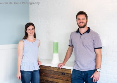 REEF fellows and AlgenAir Founders Dan Fucich and Kelsey Abernathy pose with their product