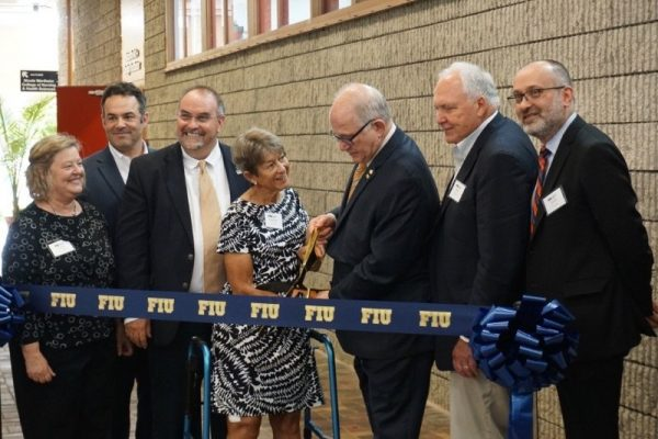 Carole Ratcliffe officiating in FIU Ribbon Cutting Ceremony