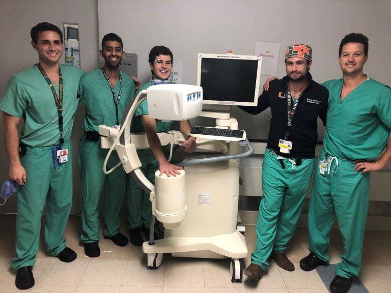 Dept. of Orthopaedics Residents with C-Arm Machine